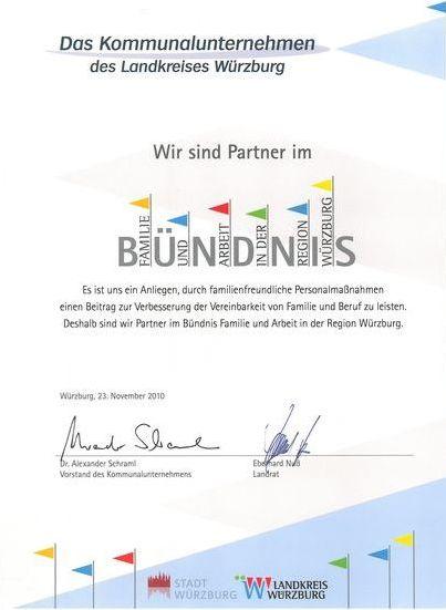 1.2 Urkunde Bündnis Familie und Arbeit