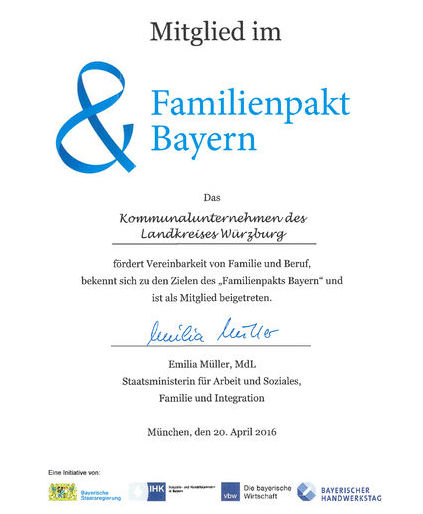 1.2 Mitgliedsurkunde Familienpakt Bayern