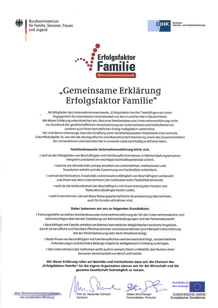 1.2 Gemeinsame Erklärung Erfolgsfaktor Familie_unterschrieben